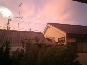 室内の電気の傘が写り込んでいるのは、ご愛敬ぢゃ(^_^;)